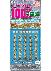 Image of Florida Lottery scratch off FLORIDA 100X THE CASH.