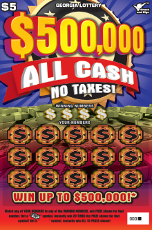 Image of Georgia Lottery scratch off $500,000 ALL CASH NO TAXES!.