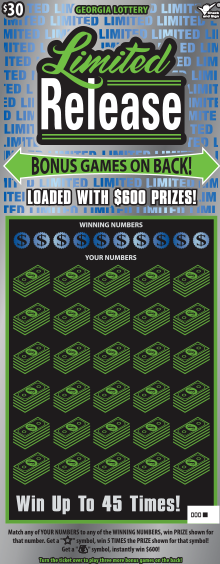 Image of Florida Lottery scratch off Limited Release.